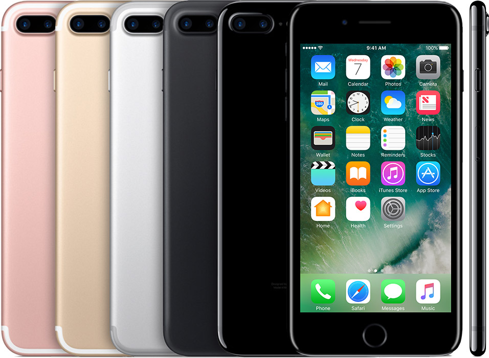 How to identify iPhone model name: iPhone 7 Plus introduced in 2016.