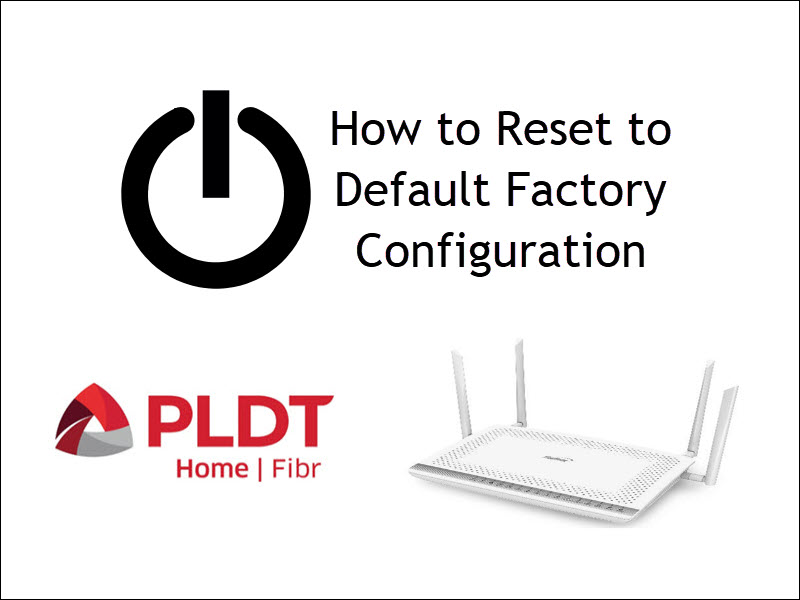 Image showing the reset button resetting to default factory configuration