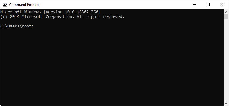 The Command Prompt window to be used for telneting into the Web Admin to display the default password of pldt router