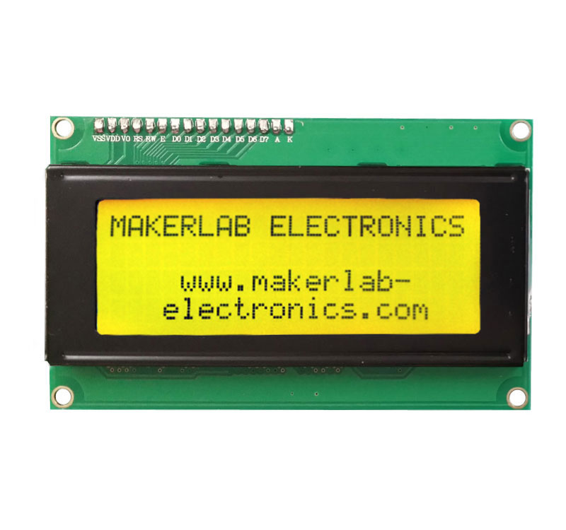 A photo a 20x4 LCD Display with I2C module for Arduino Reference and Resources