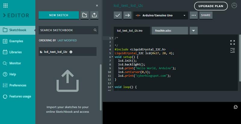 the online arduino web editor